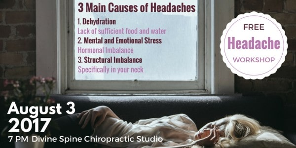 Photo about 3 main causes of headaches