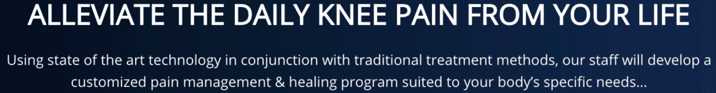 Message to Alleviate Daily Knee pain Seattle