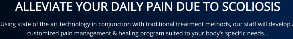 Message to Alleviate daily pain due to scoliosis Seattle Chiropractic