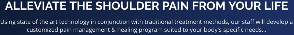 Alliviate your shoulder pain